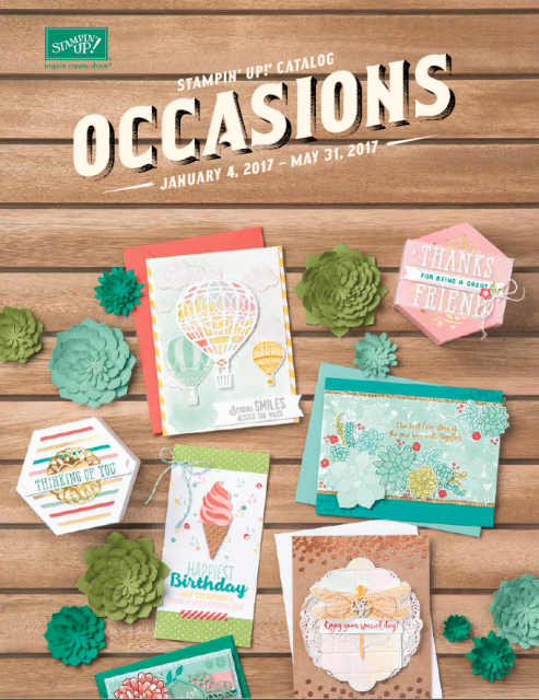 2017 Stampin' Up! Occasions Cover