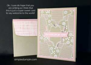 Baby Girl Card with Made with Love ~ Susan Itell Stampinup