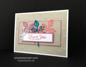 Flourishing Phrases, Sparkle Embossing Folder, Stampin' Up!, Susan Itell, Thank You Card
