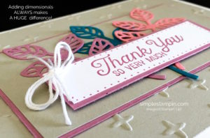 IMG_951Flourishing Phrases, Sparkle Embossing Folder,In Color Designer Series Paper Stack,White Bakers Twine, Stampin' Up!, Susan Itell, Thank You Card