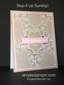 Made with Love Baby Girl Card - Susan Itell Stampinup