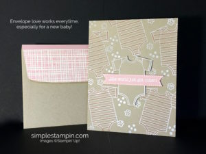 Made with Love Baby Girl Card Susan Itell Stampinup