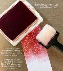 Sponge Brayer Stampin' Up!-Susan Itell