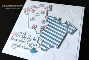 Stampin' Up! Baby Card, Made with Love Stamp Set, Aqua Painters, Happy Happenings Stamp Set, Susan Inteel - stampinup