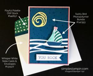 Stampin Up Card Details, Swirly Bird Bundle, Just Because - Susan Itell, Stampin Up!