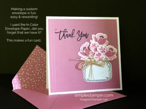 Stampin' Up! Simple Saturday Card, Jar of Love Bundle, Thank You Stampinup card, Susan Itell