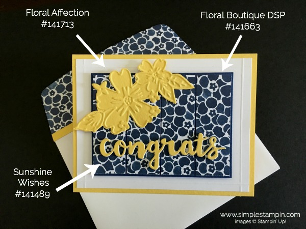 Stampin Up Sunshine Wishes Thinlit Dies Congrats Card 2 - Susan Itell stampinup