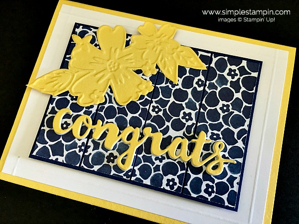 Stampin Up Sunshine Wishes Thinlit Dies Congrats Card 3 - Susan Itell stampinup