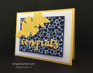 Stampin Up Sunshine Wishes Thinlit Dies Congrats Card Idea - Susan Itell StampinUp