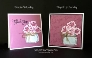Stampin' Up!, Susan Itell, Jar of Love, Thankful Branches, Stampin' Up! Thank you card
