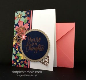 Stampin' Up! Thoughtful Braches Bundle,Thinking of You Card Limited Edition starting August 2, Susan Itell - stampinup