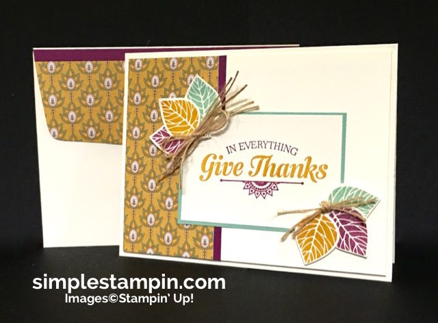Clean & Simple Stampin' Up! Card using the Thoughtful Branches Bundle, Suite Seasons Stamp Set, Susan Itell- simplestampin