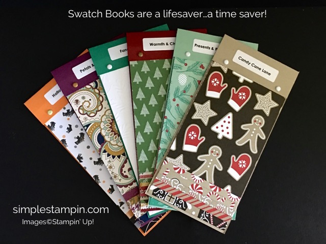 Simple Stampin' Holiday Product Share - Swatch Books, Susan Itell -stampinup