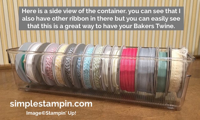 Simple Stampin' ideas on how to store Bakers Twine