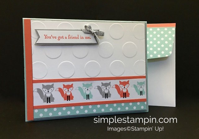 Stampin' Up! A Little Foxy, Big Shot, Clean and Simple Friend Card, Subtles DSP Stack, Susan Itell-stampinup