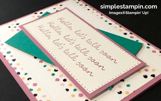 Stampin' Up! Better Together Stamp, Playful Palette Washi Tape, Playful Palette DSP, Susan Itell - simplestampin