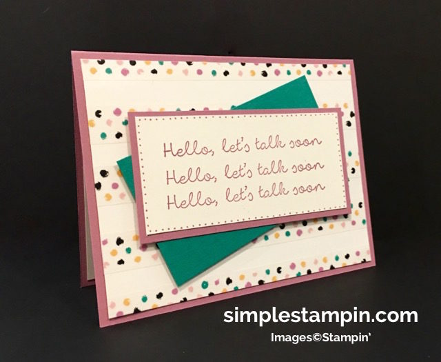 Stampin' Up! Better Together Stamp, Playful Palette Washi Tape, Playful Palette DSP,Stamp-a-ma-jig,Stampin' Up! Clean and Simple Card, Susan Itell - simplestampin