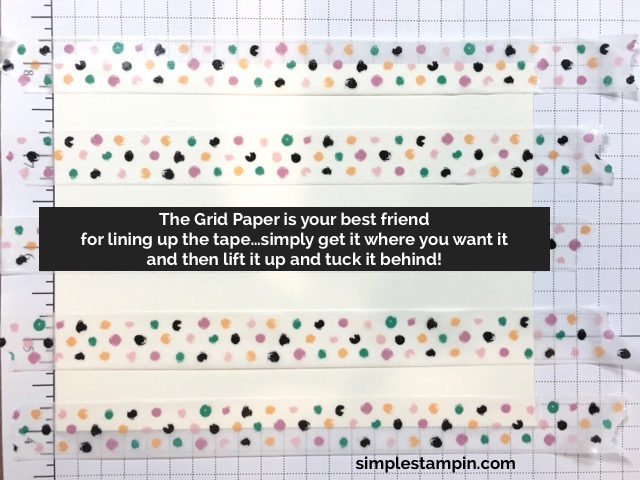 Stampin' Up! Eashi Tape tips, Susan Itell - simplestampin