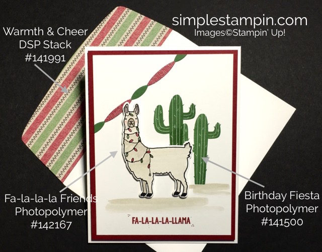 Stampin' Up! Fa-la-la-la Friends Sneak Peek, Borthday FIesta Bundle, Aqua Painter, Stampin' Up! Christmas Card, Susan Itell - stampinup