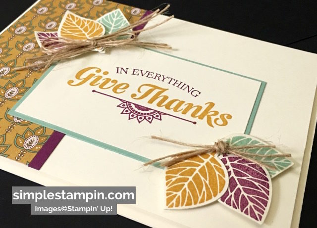 Stampin' Up! Fall Card using the Suite Sayings Stamp Set,Petals & Paisleys DSP, Thoughtful Branches Bundle, Susan Itell - simplestampin
