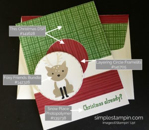 Stampin' Up! Foxy Friends Bundle, PPA #321 Challenge, Layering Circle Framelits, Susan Itell-stampinup