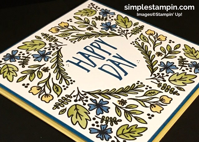 Stampin' Up! Paper Pumpkin August 2016, Perfectly Wrapped Photopolymer, Aqua Painters, Susan Itell -simplestampin