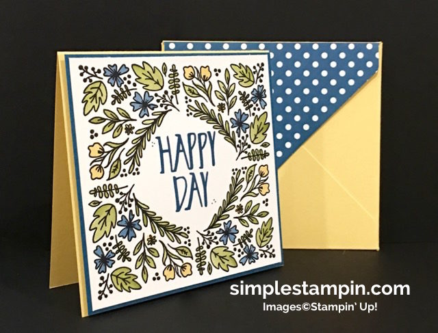 Stampin' Up! Paper Pumpkin August 2016, Perfectly Wrapped Photopolymer, Aqua Painters,Envelope Punch Board, Susan Itell -simplestampin