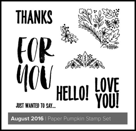 Stampin' Up! Paper Pumpkin August 2016