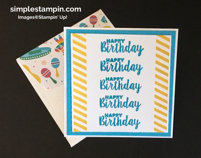 "Stampin' Up! Ready to Pop Bundle,3"" X 3"" Birthday Card, Festive Birthday DSP, Birthday 3-D - Susan Itell - simplestampin.jpg"