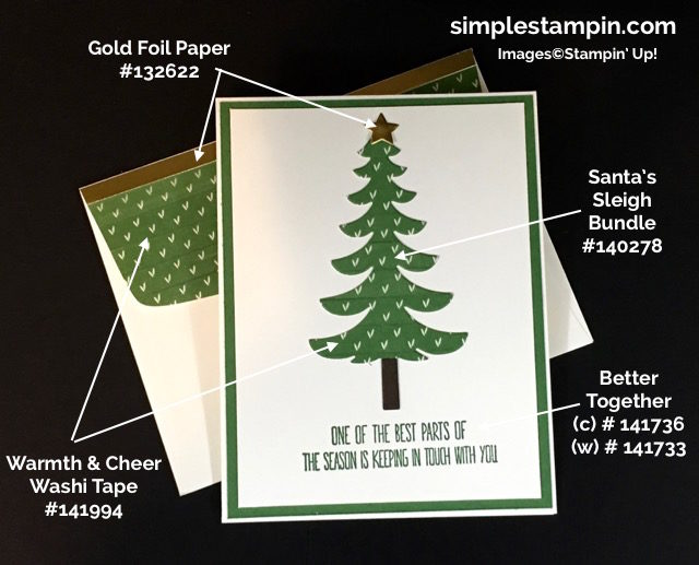 Stampin' Up, Santa Sleigh Bundle, Better Together, Warmth & Cheer Washi Tape,Gold Foil,Product Details, Susan Itell - simplestampin