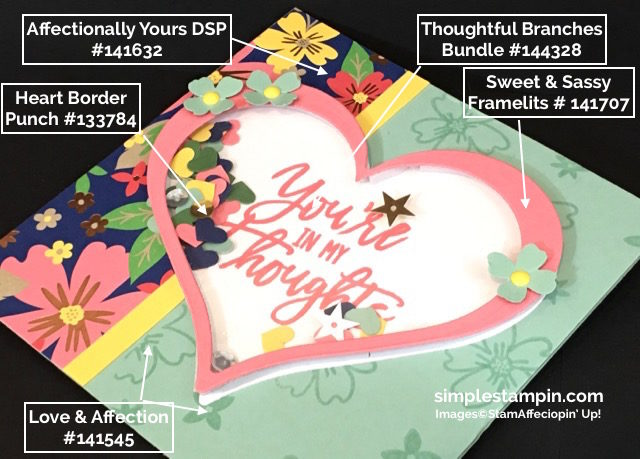Stampin' Up! Shaker Card, Thoughtful Branches Limited Edition Bundle, Sweet & Sassy Framelits, Product Details, Susan Itell - simplestampin
