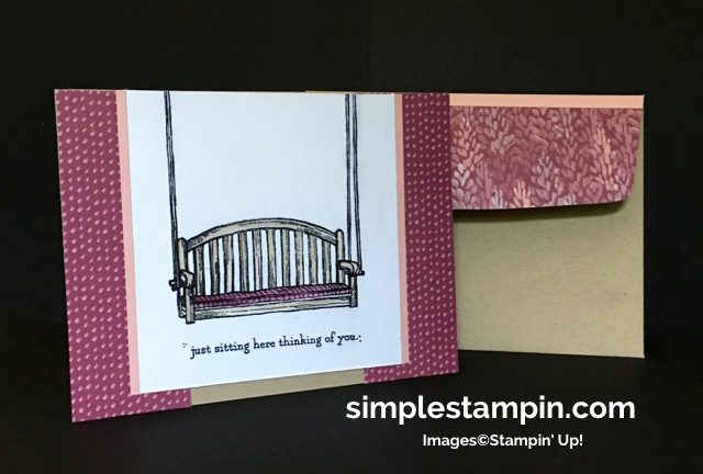 Stampin' Up! Sitting Here Photopolymer, Blooms & Bliss DSP, Susan Itell - simplestampin