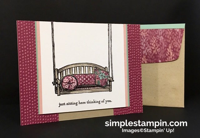 Stampin' Up! Sitting Here Photopolymer, Blooms & Bliss DSP, Watercoloring,Paper Tole Techique, Susan Itell - simplestampin