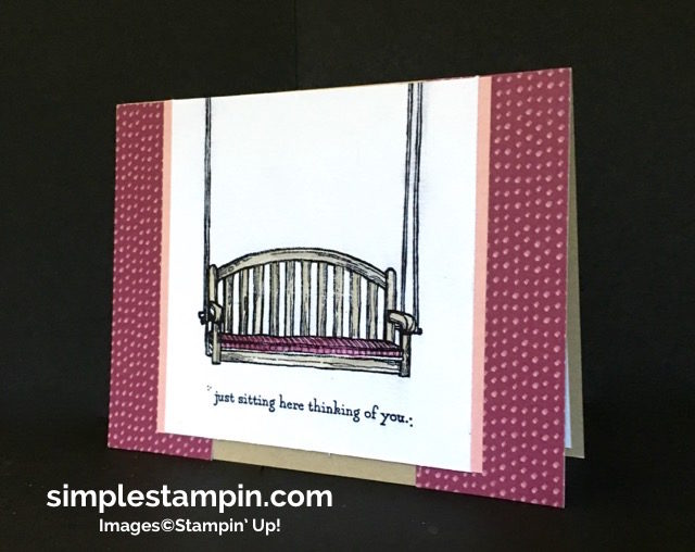 Stampin' Up! Sitting Here Photopolymer, Blooms & Bliss DSP,Clean & Simple Card, Susan Itell - simplestampin.jpg