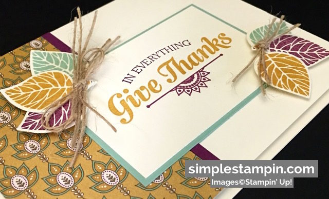Stampin' Up! Suite Sayings Stamp Set, Thoughtful Branches Limited Edition Bundle, Susan Itell - simplestampin