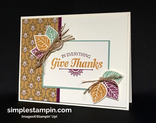 Stampin' Up! Thoughtful Branches Limited Editions Bundle, Suite Sayings Stamp Set, Susan Itell - simplestampin