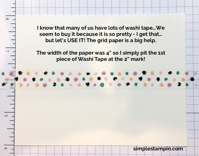 Stampin' Up! Washit Tape Tips & Tricks, Susan Itell - simplestampin
