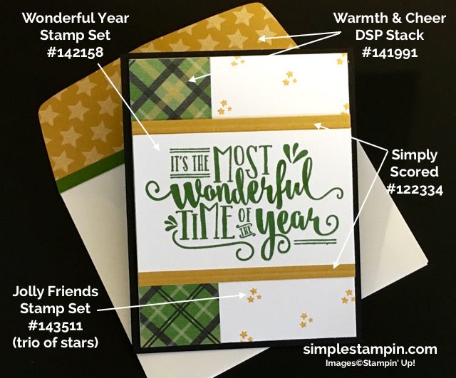 Stampin' Up! Wonderful Year Clean & Simple Card, Project Details, Susan Itell - simplestampin