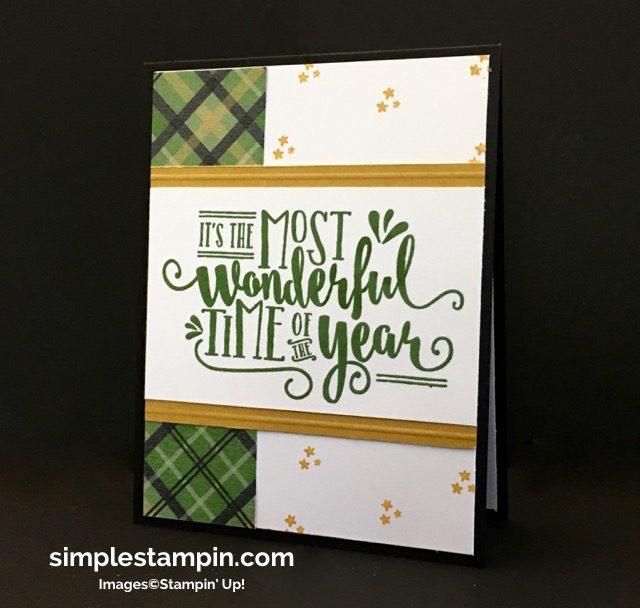 Stampin' Up! Wonderful Year, Holiday 2016 Catalog, Christmas Card, Warmth & Cheer DSP Stack, Susan Itell - simplestampin