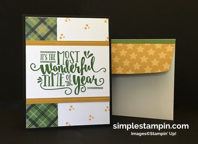 Stampin' Up! Wonderful Year, Holiday 2016 Catalog, Christmas Card,Clean & Simple, Warmth & Cheer DSP Stack, Susan Itell - simplestampin