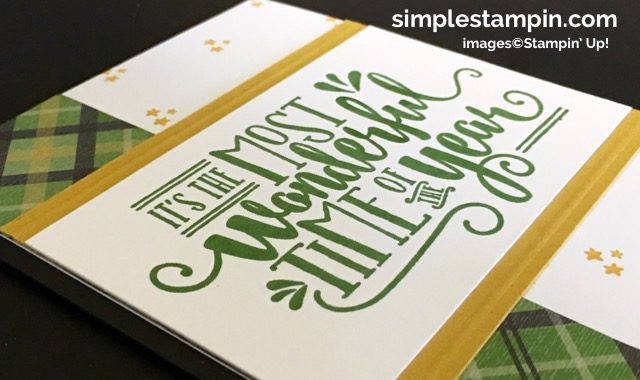 Stampin' Up! Wonderful Year, Holiday 2016 Catalog, Christmas Card,Clean & Simple, Warmth & Cheer DSP Stack,Simply Scored, Susan Itell - simplestampin