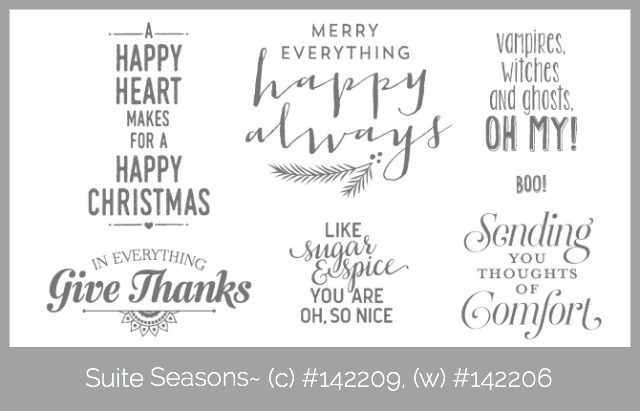 Suite Sayings, Holiday Catalog 2016