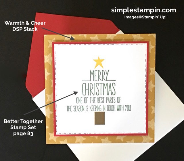 Stampin' Up! Better Together Stamp Set, Clean and Simple Stampin' Up! Christmas Card, Square Card,Project Details, Warmth & Cheer DSP Stack, Susan Itell - simplestampin.jpg