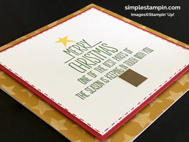Stampin' Up! Better Together Stamp Set, Clean and Simple Stampin' Up! Christmas Card, Square Card,Stampin' Dimensionals, Warmth & Cheer DSP Stack, Susan Itell #2 - simplestampin