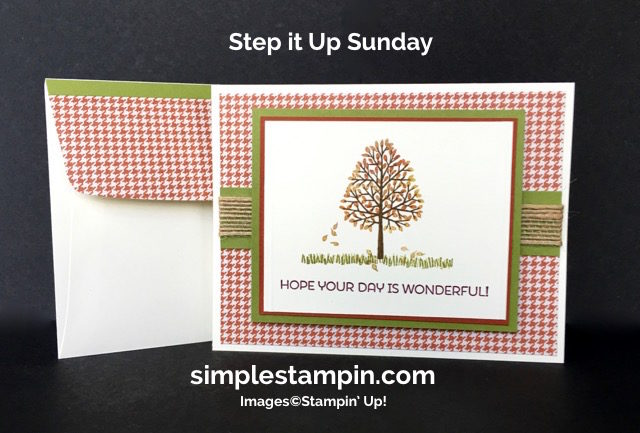 Stampin' Up! Fall Card, Totally Trees Photopolymer, Cottage Greetings,Burlap Ribbon,Susan Itell - simplestampin