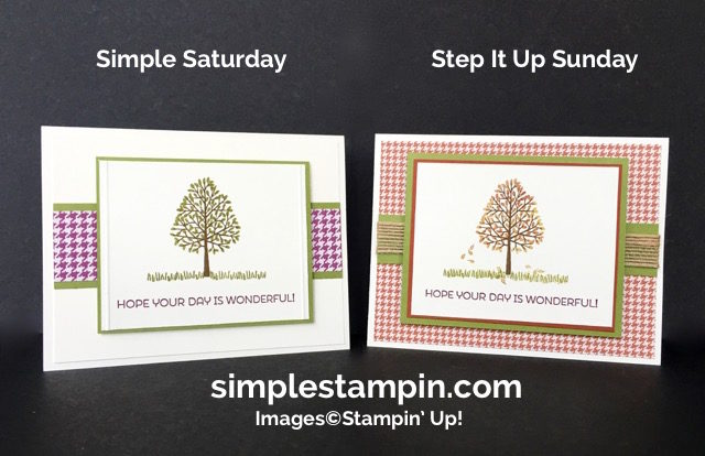 Stampin' Up! Fall Card, Totally Trees Photopolymer, Cottage Greetings,Susan Itell - simplestampin