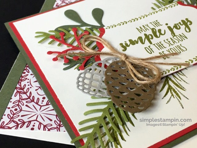 Stampin' Up!,Christmas Pines Bundle,Big Shot,Lots of Labels Framelits,Linen Thread,Product Details,Clean & Simple Christmas Card,Susan Itell #2 - simplestampin