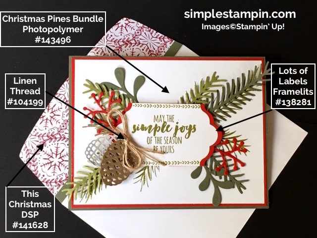 Stampin' Up!,Christmas Pines Bundle,Big Shot,Lots of Labels Framelits,Linen Thread,Product Details,Susan Itell - simplestampin