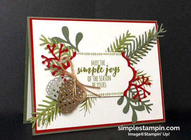 Stampin' Up!,Christmas Pines Bundle,Big Shot,Lots of Labels Framelits,Linen Thread,Susan Itell - simplestampin