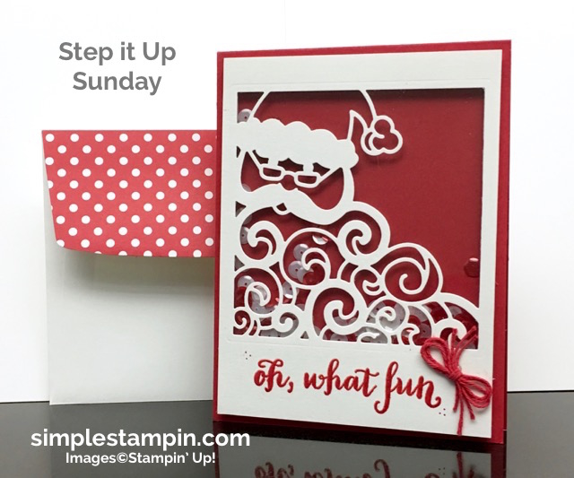 Stampin' Up! Detailed Santa Christmas Card, simplestampin, Susan Itell